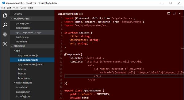 Web API and Angular 2 using Visual Studio Code
