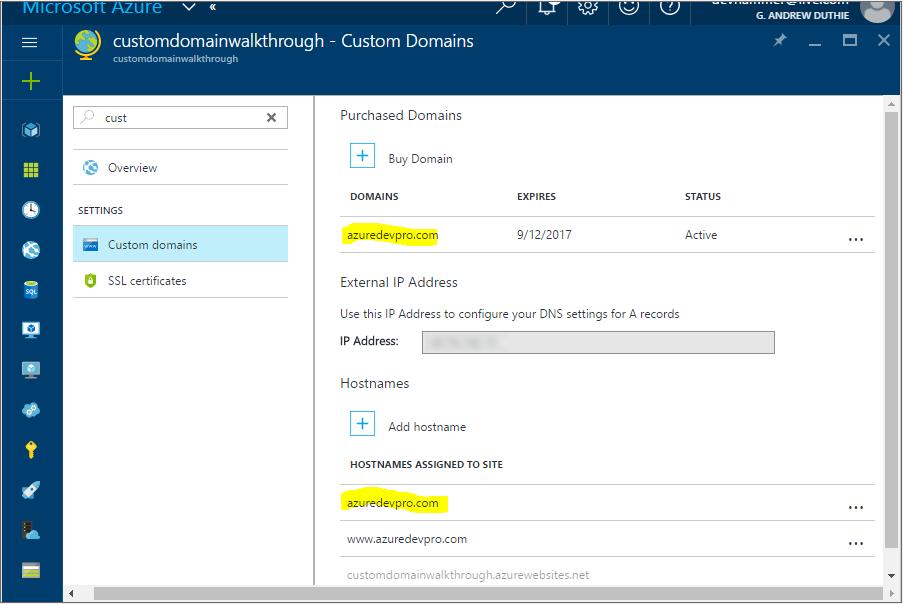Custom Domain Configured